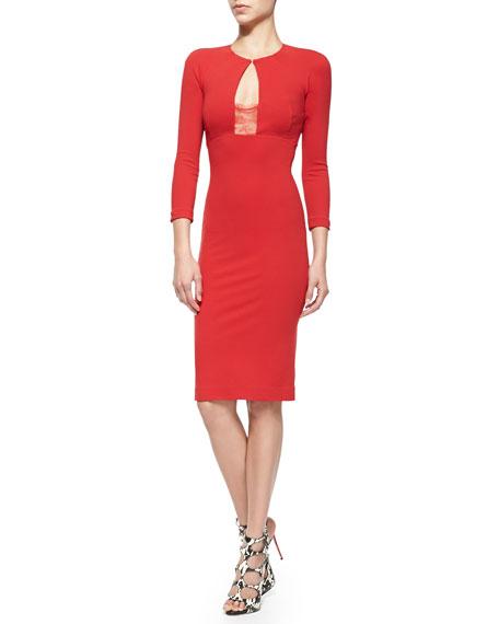 Eva Backless Sheath Dress W/ Lace Bra