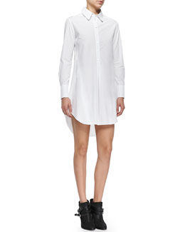 Felix Long-Sleeve Cotton Shirtdress