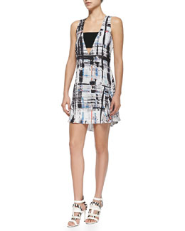 Ali Deep V-Neck Printed Dress