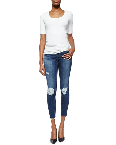 Cropped Mid-Rise Skinny-Fit Jeans