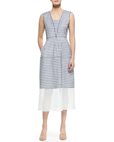 Granada Printed Dress W/ Contrast Hem