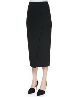 Riyadh Calf-Length Faux-Wrap Skirt