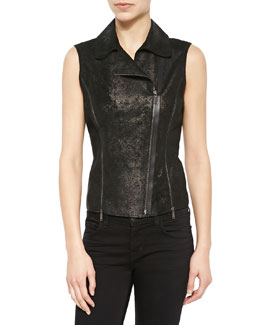 Victoria Distressed Leather Vest