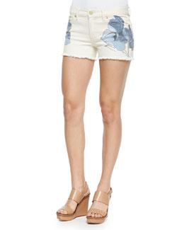 Amanda Floral-Print Short Shorts