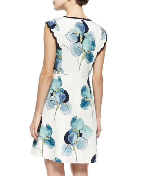 Edith Floral-Print Flare Dress