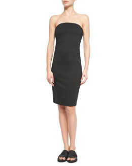 Cast Strapless Fitted Jersey Dress