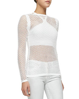 See-Through Netted Knit Top
