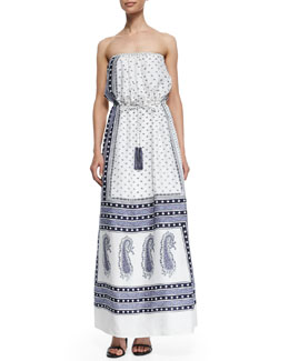 Caparica Paisley-Print Maxi Dress