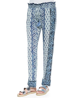 Belem Printed Pull-On Pants