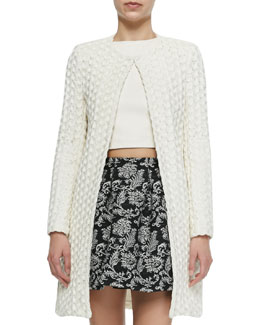 Shay Open-Front Long Cardigan