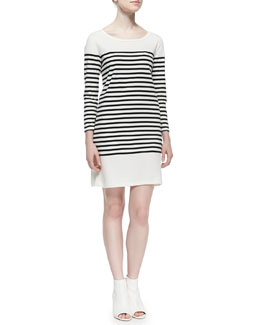 Pentea B Striped Knit Sheath Dress