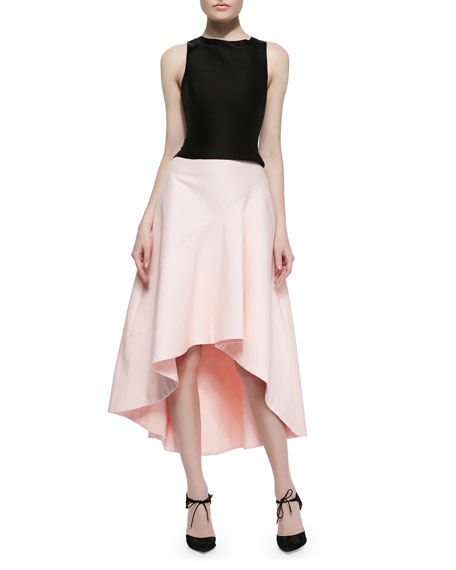 Full Skirt with High-Low Hem