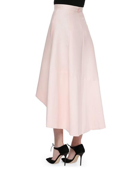 Full Skirt with High-Low Hem