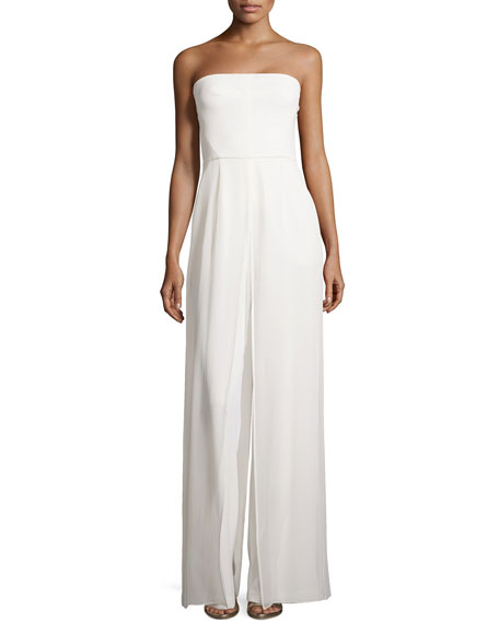 Strapless Wide-Leg Jumpsuit