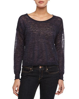 Demi Semisheer Slub Knit Sweater