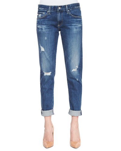 Nikki Relaxed Skinny Jeans, 10-Year Wash