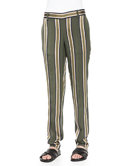Termin Striped Straight-Leg Pants