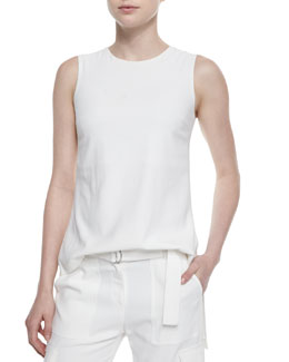 Yinga Sleeveless Crepe Top