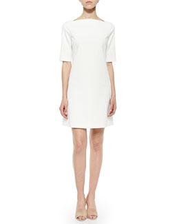 Harkin Half-Sleeve Crepe Dress