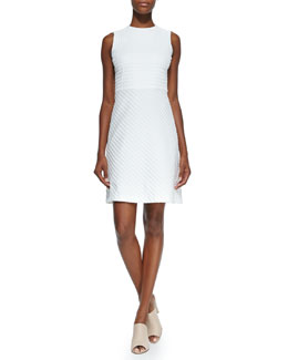 Raneid Textured A-Line Dress
