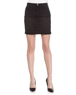 The Skinny Drifter Denim Miniskirt