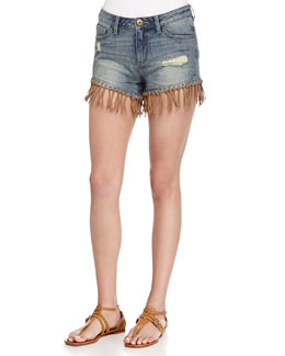 Ivy Distressed Denim Shorts