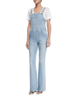 Le High Flare Denim Overalls, Doheny