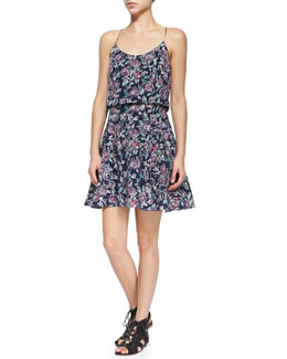 Nanon Floral-Print Sleeveless Dress