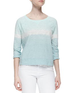 Emma Ombre Long-Sleeve Slub Top
