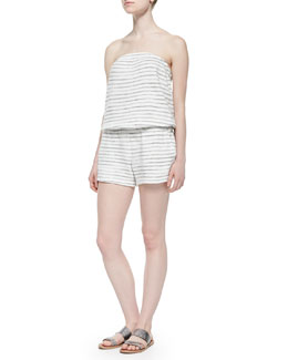 Gidget Striped Strapless Romper
