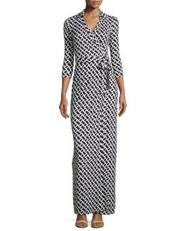 Abigail Silk Jersey Maxi Wrap Dress