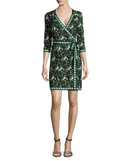 Tallulah Floral-Print Silk Wrap Dress