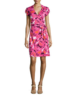 Jilda Printed Silk Wrap Dress