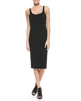 Nile Stretch-Knit Scoop-Neck Dress, Caviar