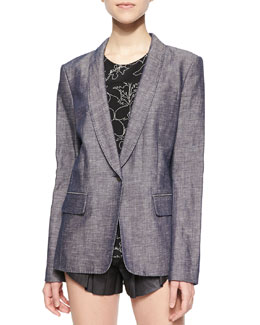 Natalie Long Chambray Blazer