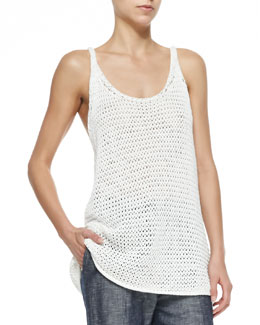 Joelle Sweater-Knit Long Tank