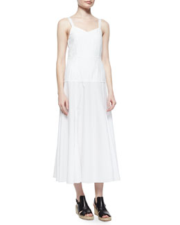 Jade Sleeveless Poplin A-Line Dress