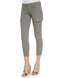 Riley Cropped Cargo Skinny Pants