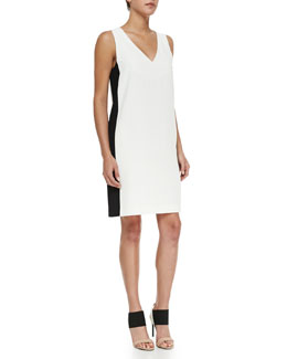 Two-Tone V-Neck Dress