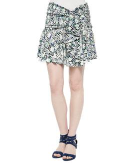 Dree Printed Flouncy Skirt