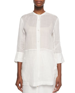 Long Sheer Voile Tunic