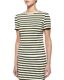 Dale Striped Short-Sleeve Top