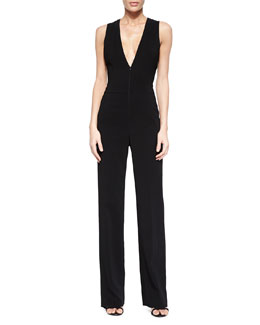 Luree V-Neck Wide-Leg Jumpsuit