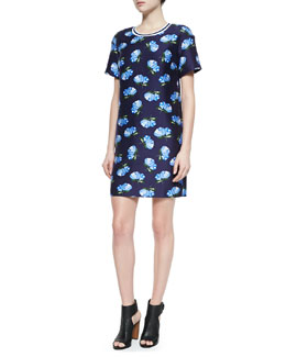 Roydene Knit Floral-Print Dress