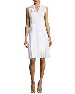 Jessy Pleated Poplin Dress