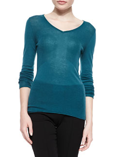 Barbara V-Neck Sweater, Jade