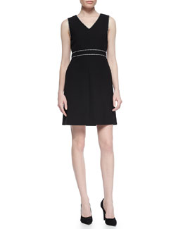 Leelou Braid-Trim Dress