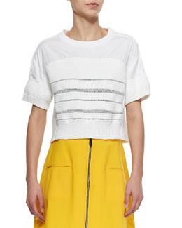 Adria Short-Sleeve Handknit T-Shirt