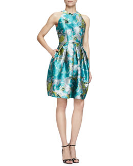 Sleeveless Floral Cocktail Dress