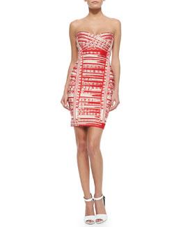 Maricel Abstract Brushstroke Sheath Dress